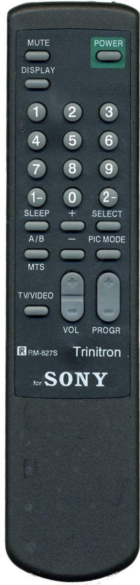Пульт для Sony RM-827S (TV) (KV-1485, KV-2165MK, KV-2185MTJ, KV-2187MT, KV-2565, KV-2565MT, KV-2565MTJ, KV-2965MT)