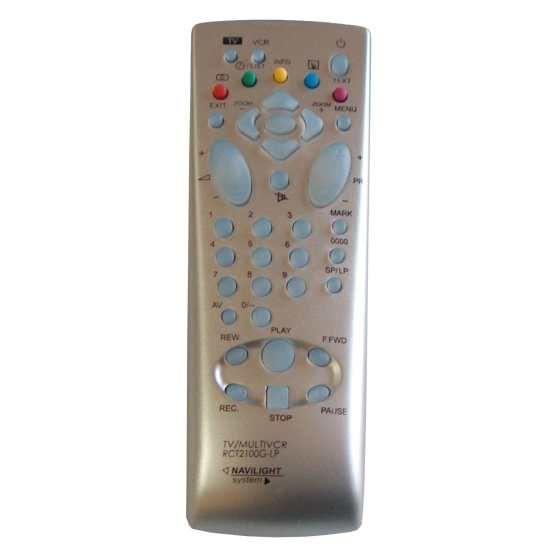 Пульт для Thomson/Telefunken RCT-2100S серебро (TV) (20MG10E 21DX25E 25DC22E 25DC25ES 25DU24E 25DX25ES 25DX25KG 28DG17E 28DG42E 28DK44E 28DN20E 28DP25EG 28VK45E 29DF45EB 29DF45ES 29DJ24E 29DJ42E 29DL22E 29PL22E 32VK25E 32VK45E 32WX410S 33MS24E)