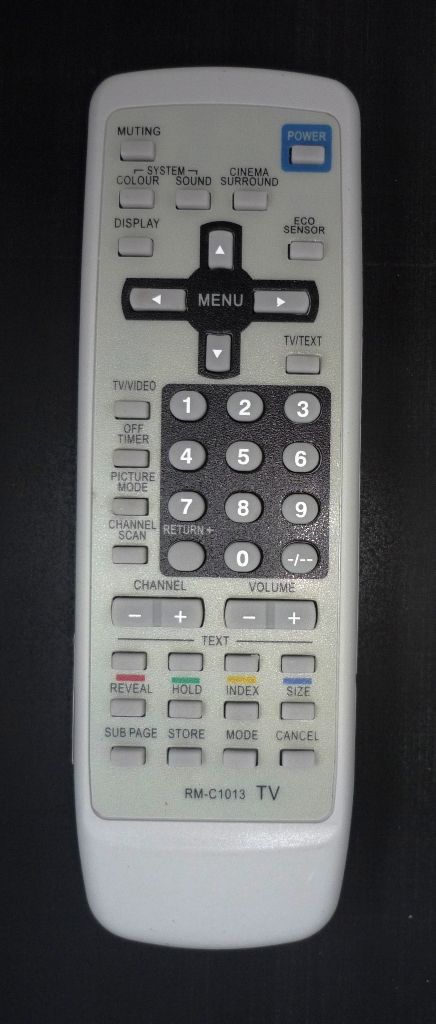 JVC RM-C1013 (TV c t/t) (AV-2105EE, AV-2111Y1, AV-2112Y1, AV-2132W1, AV-2132Y1, AV-2137V1, AV-2178TEE, AV-2537V1, AV-2555TEE, AV-2568TEE, AV-2937V1, AV-2978TEE, HV-29WH21, HV-29WZ , HV-34LH21)