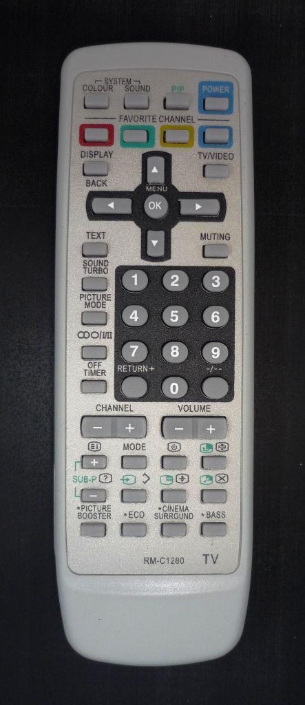 JVC RM-C1280 (TV с t/t) (AV-2184VE, AV-21CS24, AV-21CX14, AV-21DX14 JVC, AV-21LX14, AV-21VS24, AV-21VX14, AV-21VX54, AV-21VX74, AV-21WS24, AV-21WX14, AV-21YX14, AV-2584VE, AV-25LS24, AV-25LX14, AV-25VS24)