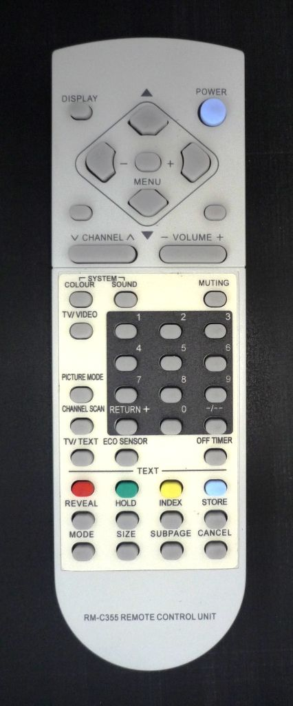 JVC RM-C355 (TV) (AV-1431TEE, AV-1433TEE, AV-14F4EE, AV-14F4TEE, AV-2108TEE, AV-2131TEE, AV-2133TEE, AV-2155TEE, AV-21F4EE, AV-21F4TEE, AV-2508TEE, AV-2551TEE, AV-2553TEE, AV-2908TEE, AV-2951TEE, AV-2953TEE, AV-3408TEE, AV-K25MX2)