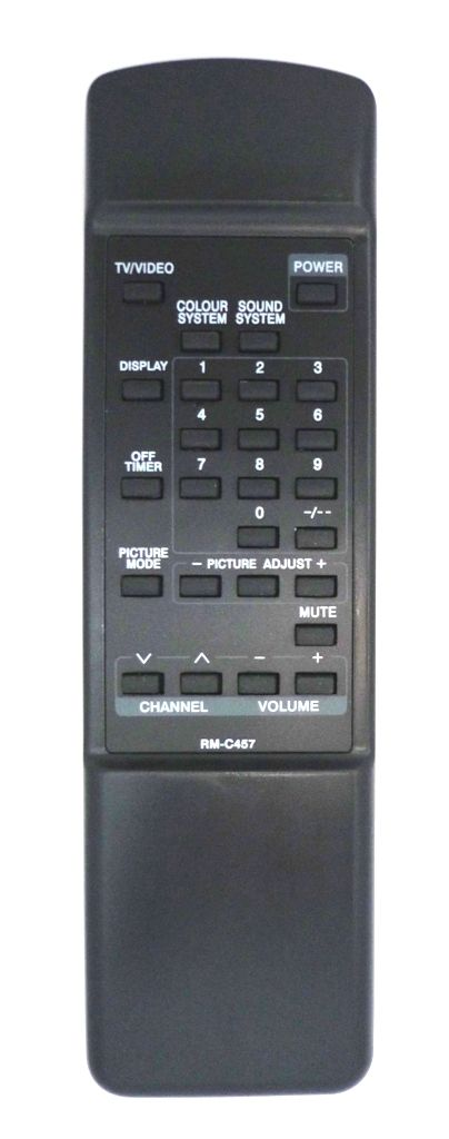 JVC RM-C457 (TV) (AV-14TE, AV-21TE, AV-21ZE, AV-25MEX, AV-C212, AV-E258, AV-G250MX, AV-G290MX, AV-R1200, AV-S29F8X, C-21ME, C-21ZE, C-S29F8X)