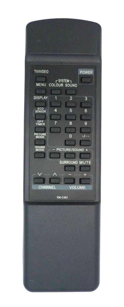 JVC RM-C463 (TV) (AV-14TE, AV-21TE, AV-21ZE, AV-25MEX, AV-C212, AV-E258, AV-G250MX, AV-G290MX, AV-R1200, AV-S29F8X, C-21ME, C-21ZE, C-S29F8X)
