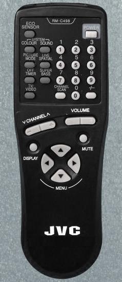 JVC RM-C498 (TV) (AV-1410EE, AV-1411TEE, AV-2110EE, AV-2130EE, AV-2551TEE, AV-2553TEE, AV-2951TEE, AV-K29MX1, AV-K29MX3)