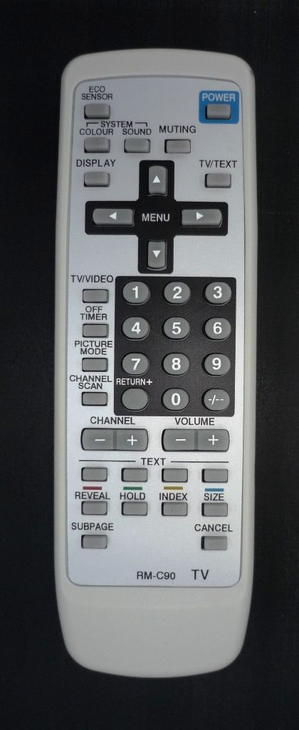 JVC RM-C90 (TV c t/t) (AV-1414EE, AV-1434EE, AV-1435, AV-1435TEE, AV-1438, AV-14A3, AV-14F3, AV-14FMT3, AV-14FTT2, AV-20N3, AV-2104EE, AV-2114EE, AV-2124EE, AV-2134TEE, AV-2135TEE, AV-2168TEE, AV-21D3)