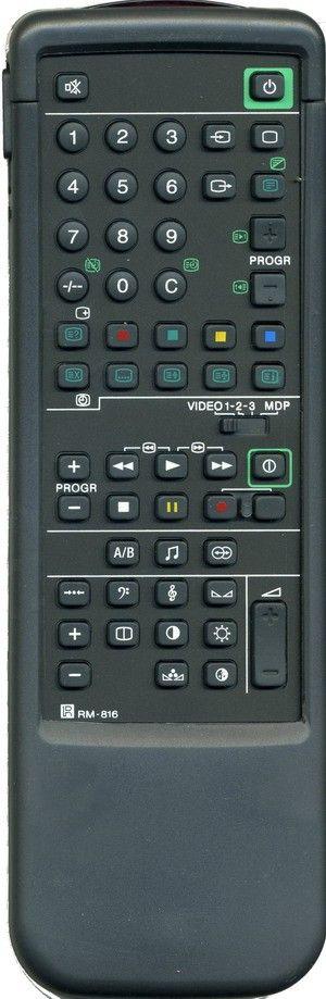 Пульт для Sony RM-816 (TV) (пенал) (KV-1800U, KV-2114S, KV-A2110B, KV-A2111A.B.D., KV-A2112, KV-A2121A.B.D., KV-A2511D, KV-A2520B, KV-A2521, KV-A2521D, KV-A2521K, KV-A2911D, KV-A2921, KV-A2921K, KV-A3411D, KV-C2121D, KV-C2160B, KV-C2161D)