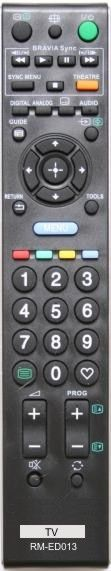 Пульт для Sony RM-ED013 (TV) (KDL-40L4000, KDL-40S4000, KDL-40V4000K, KDL-46L4000, KDL-46V4000K, KDL-52V4000, KDL-52V4210)
