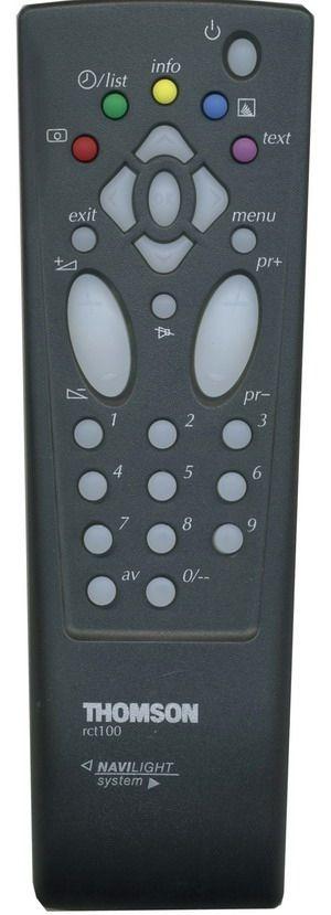 Пульт для Thomson RCT100 (TV с t/t) (21DU21C, 21DU21E, 21MF10C, 21MF10E, 21MF15CL, 21MF15EТ, 21MG10E, 21MG130G, 21MG15ET, 21MG17E, 21MG18EG, 21MH10C, 21MH15CL, 21ML15ET, 21MT10C, 21MT10E, 21MT10F, 21MT15CG, 21MT15CL, 21MT15CX, 21MT15ET, 21MT15FT)