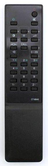 Пульт для Toshiba CT-9340 (TV) (2104XS1 , 2125XSR , 2140 , 215R8W , 21807S , 218D7S , 219X9S , 21BR , 21DB , 21DRV , 21ER , 2505DD , 2506XH , 2512DT , 2545 , 255R7F , 289R6F , 289X4MT , 71H/329T)