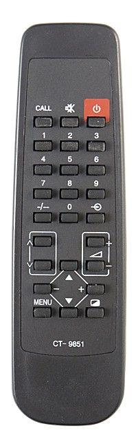 Пульт для Toshiba CT-9851 (TV) (149K, 149ERV, 14AD, 14AR, 14DR, 14GP, 14GR, 14HP, 1455XN, 1460RE, 1460XN, 1465XR, 2050XS3, 2060RE, 2065XR, 21HR, 2150XS3, 2160RE, 2160TM, 2160XS, 2165XR)