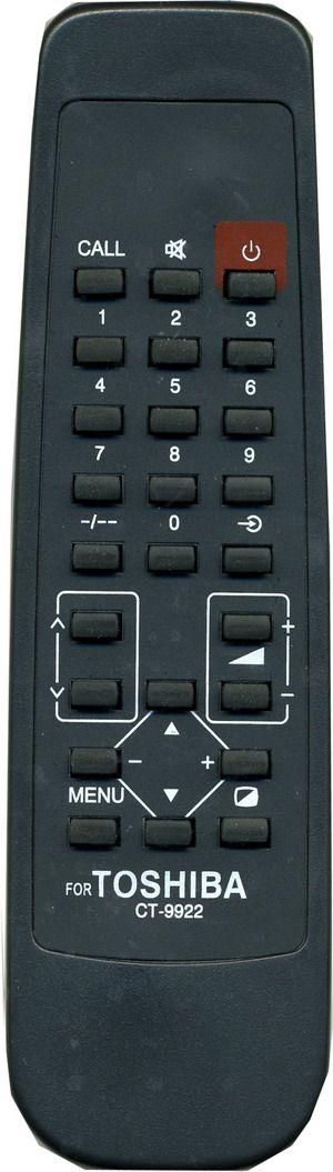 Пульт для Toshiba CT-9922 (TV) (14A3R, 14N1QT, 14N1XR, 14N1XRP, 14N5XM, 2165XR, 2170XHE, 21CS1R, 21D3XRT, 21G3XR, 21N3XM, 21N3XRT, 29D7XRT, 29G3XR, 29G5DR, 29G5DRT, 29N3XR)