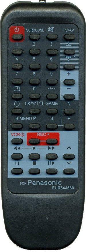 Пульт для Panasonic EUR644660/644661 (TV) (TC-2185R, TC-21S90R, TC-21S90X, TC-22S200R, TC-22S200X, TC-25F1, TC-25L10R, TC-25S100R, TC-25S100X, TC-29S90X, TC-29S95R, TC-29S95X, TX-14F2T, TX-21S90R, TX-21S90X, TX-22S200R, TX-22S200X, TX-25S100R)