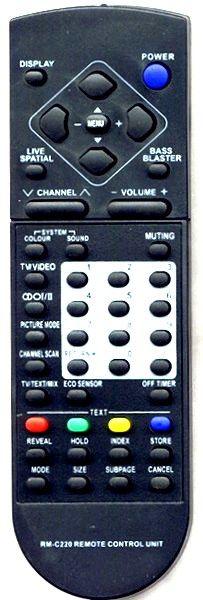 JVC RM-C220 (TV) (14TR2, AV-1431TEE, AV-1433TEE, AV-2108TEE, AV-2131TEE, AV-2133TEE, AV-2155TEE, AV-2508TEE, AV-2551TEE, AV-2553TEE, AV-2908TEE, AV-2953TEE, AV-3408TEE, AV-K25MX2, AV-K29MR2, C-JT14E1, K21TR2)