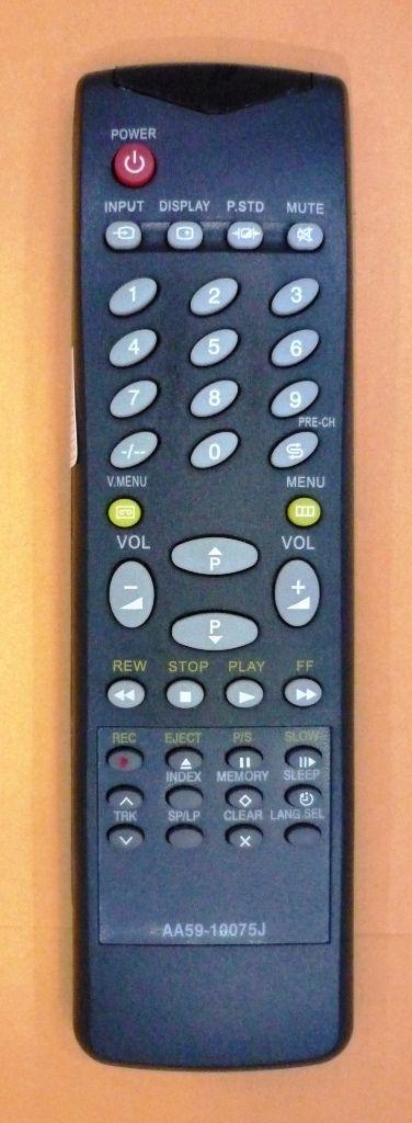 Samsung AA59-10075J (TV/VCR) (TVP-3350WR, TVP-3360WA, TVP-3360WR, TVP-5050WR, TVP-5350WR, TW-14B5VR, TW-14C3DR, TW-14C3R, TW-14C5,TW-14C54, TW-14C6DR, TW-14C9DR, TW-20C5DR, TW-2185DR, TW-21B3NR, TW-21B3R, TW-21B5DR, TW-5050ZR)